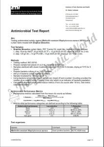 MRSA1 - сертификат об исследованиях, подтверждающих антибактериальные свойства Drapilux Bioaktiv